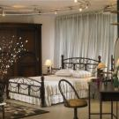 Madreed queen bed room ( Meatal_Wood )